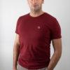 T-shirt Pim Si bordeauxrood